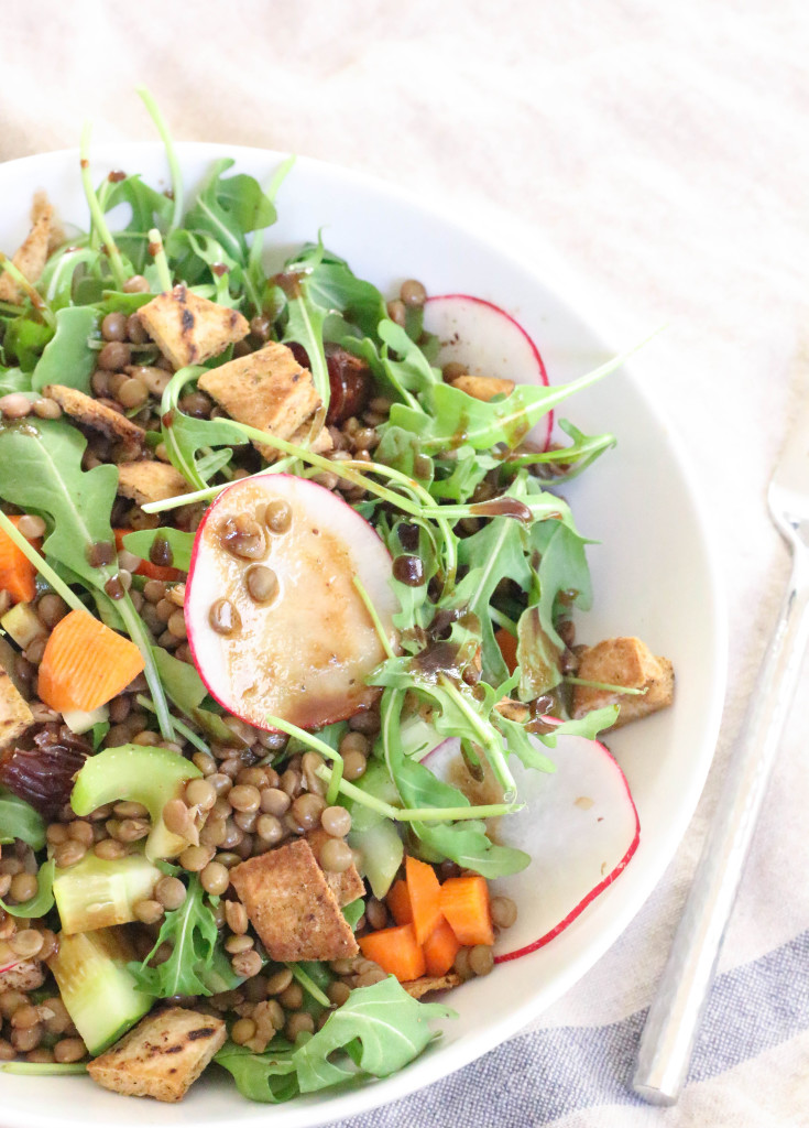 Vegan Lentil Fattoush Salad | The Mostly Vegan