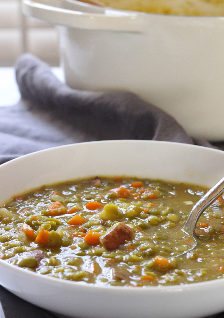 Perfect pea soup - vegan & gluten free