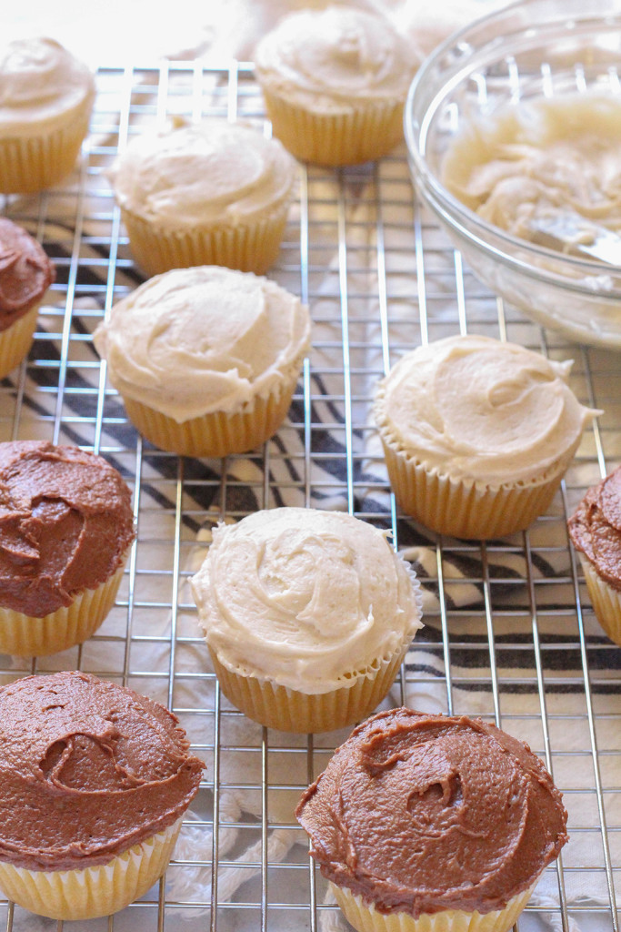 Vegan Vanilla Cupcakes with Buttercream Frosting - made with coconut oil