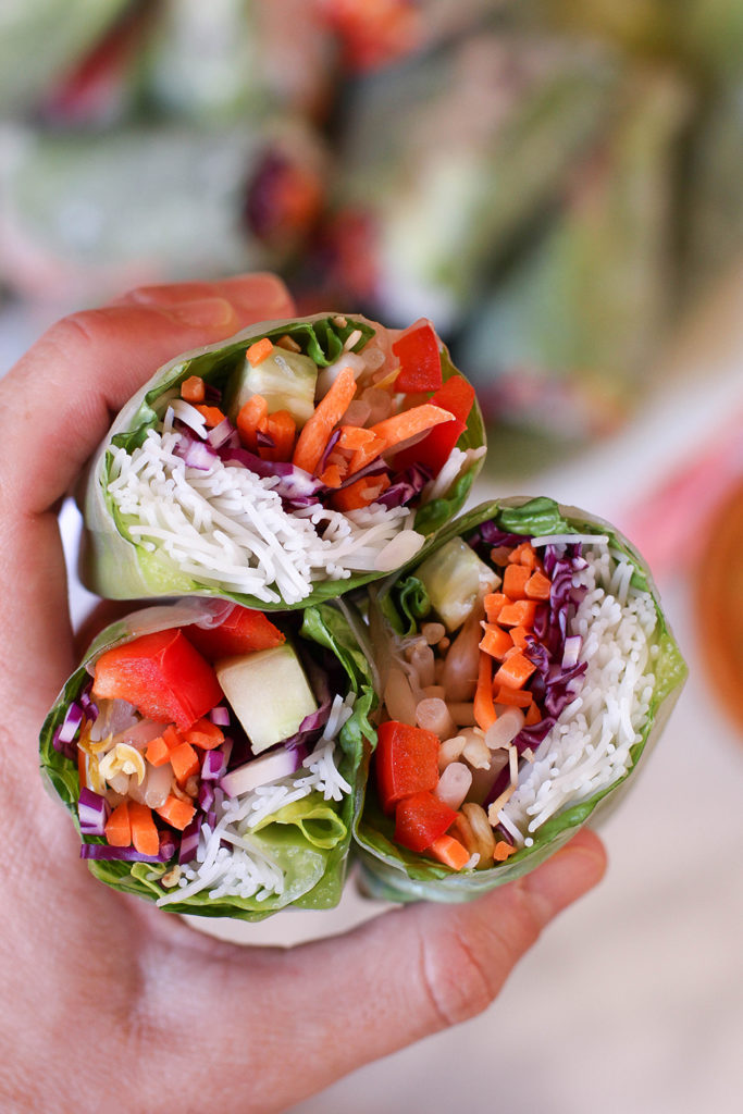 Veggie spring rolls with spicy peanut dipping sauce the mostly vegan veggie spring rolls with spicy peanut dipping sauce vegan gluten free forumfinder Gallery
