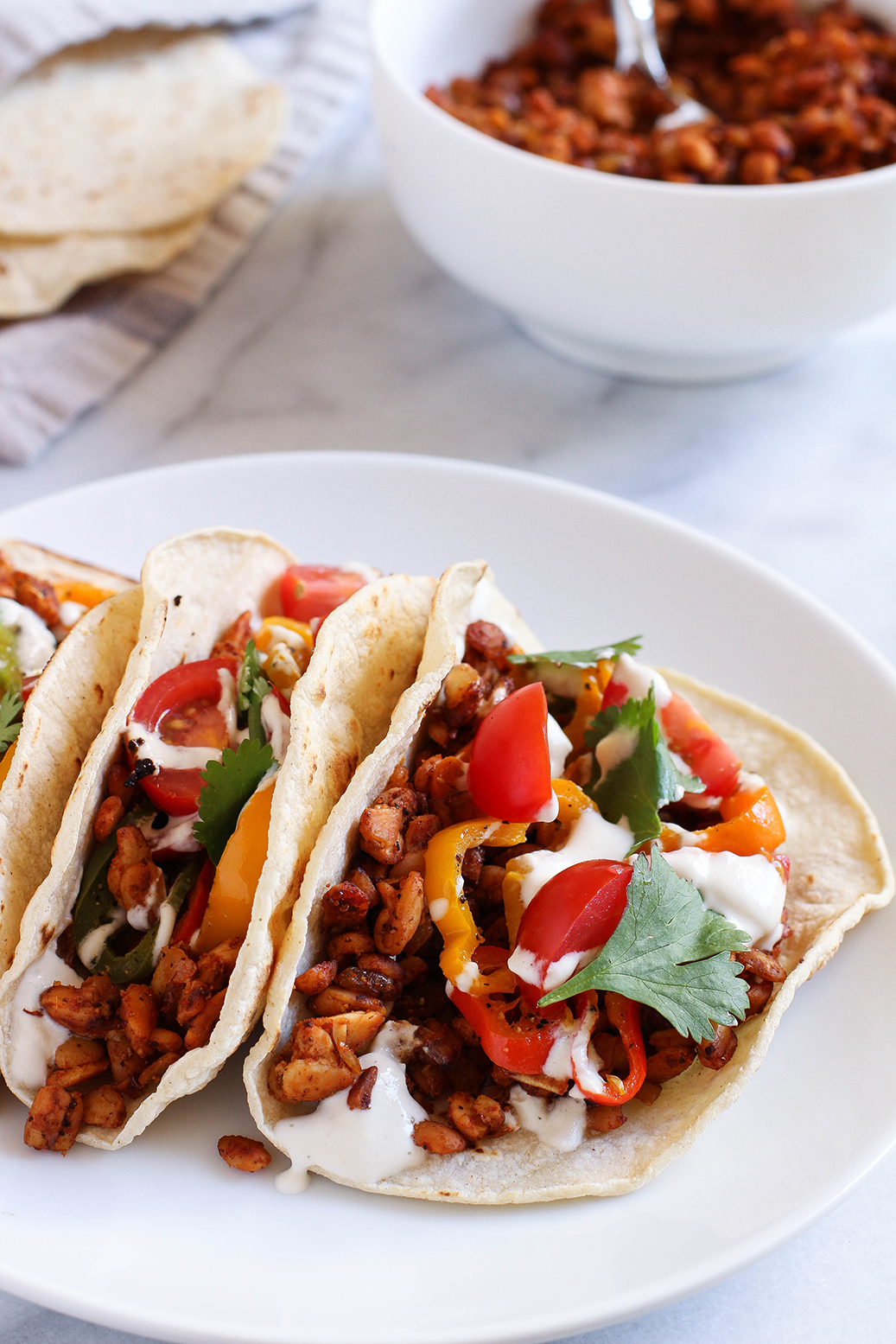 Delicious 20 minute tempeh taco meat