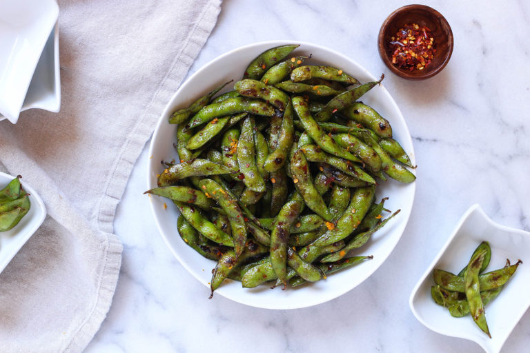 15 Minute Orange Spiced Edamame - a healthy & protein packed snack