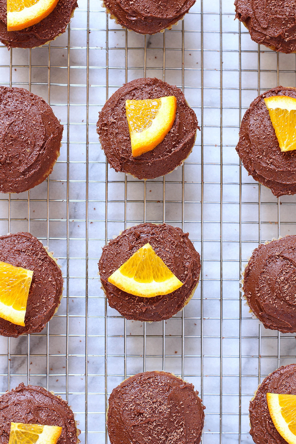 Vegan Dark Chocolate Orange Cupcakes